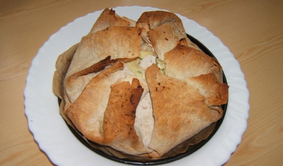 Lavaša pīrāgs ar pildījumu