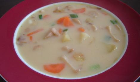 Baraviku zupa ar sieru