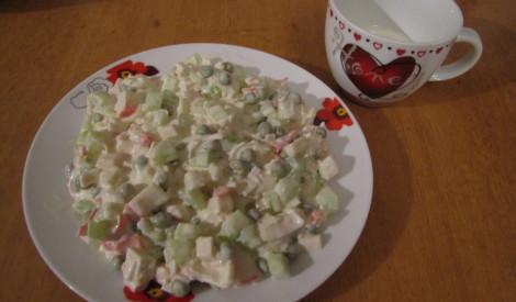 Krabju salāti - vienkārši un garšīgi