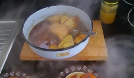 Bulgārijas omes cepta ķirbja recepte