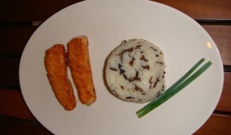 Lasis teriyaki mērcē ar rīsiem [fotorecepte