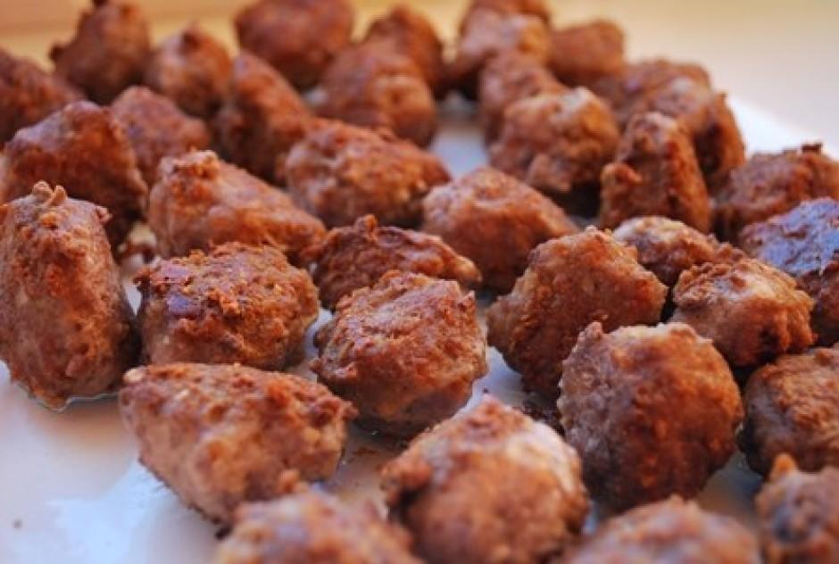 kad visa maltā gaļa ir izlietota un sanākušas smukas mazas k...