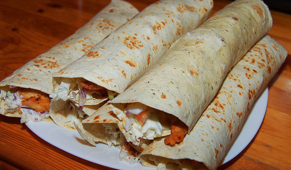 Vistas tortilja jeb chicken wrap
