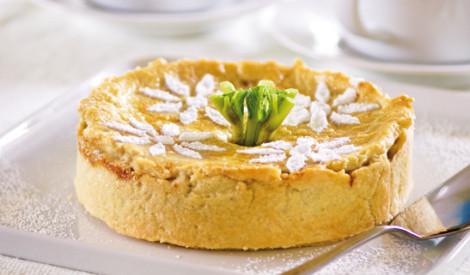 Rabarberu kūka ar kanēli