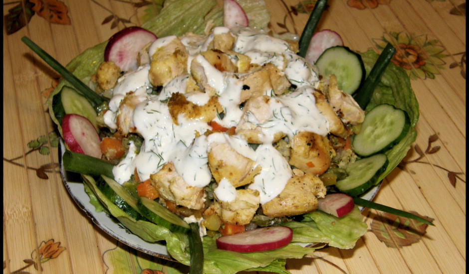 Cepti kartupeļi ar vistiņu