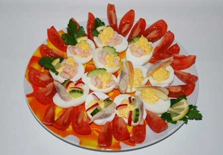 Pildītas olas