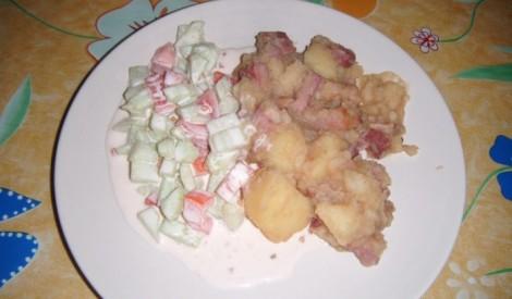 Kartupeļu un gaļas miksējums