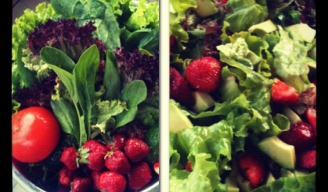Mocarellas - zemeņu salāti