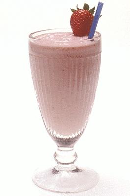 Ogu piena kokteilis  (milkshake)
