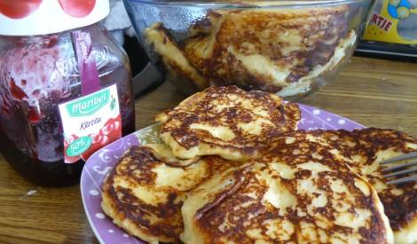 Kartupeļu biezeņa un siera pankūkas