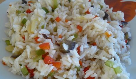 Cepti dārzeņi ar rīsiem