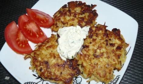 Rīvētu kartupeļu un zivju kotletes