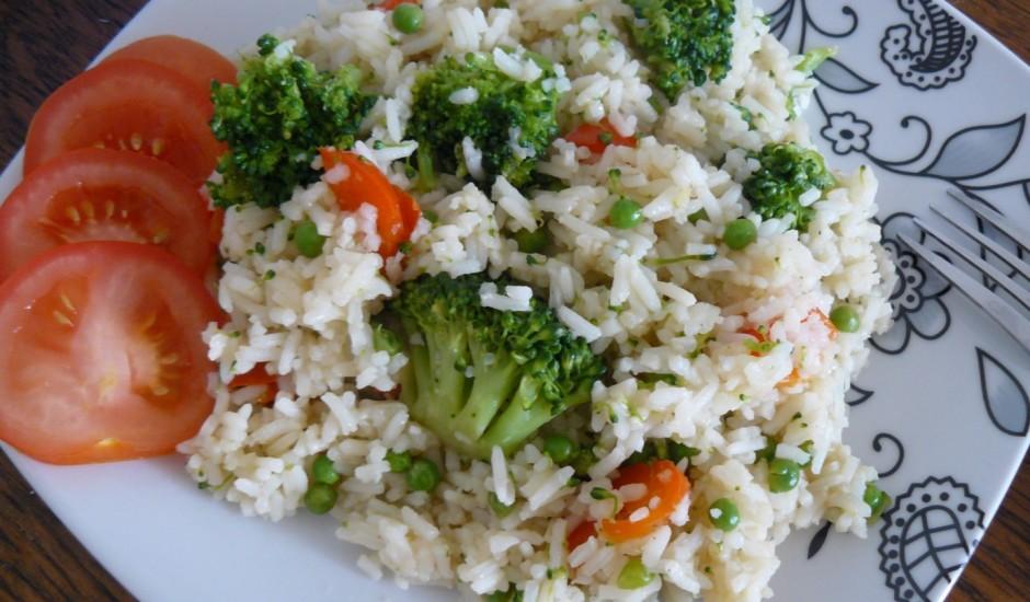 Rīsu un dārzeņu panna