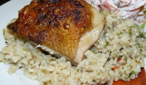 Cepti stilbiņi ar rīsiem un garšaugiem