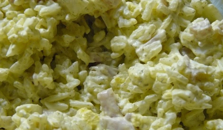 Olu un šķiņķa salāti