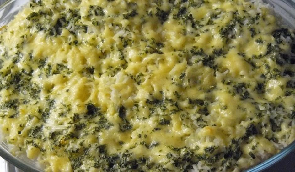 Rīsu (grūbu) un siera sacepums