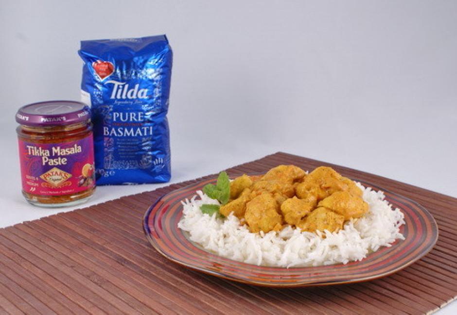 !!! Pasniedz siltu kopā ar basmati rīsiem.