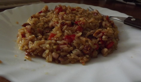 Gardais mišungs jeb rīsu, dārzeņu, vistas un paprikas sajaukums