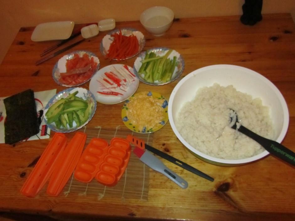 Pa to laiku rīsi ir ideāli izvārījušies un tā kā pēc gatavoš...