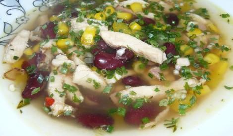 Meksikāņu pupiņu zupa