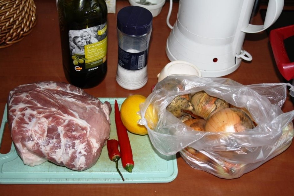 Recepte vienkārša un ātra, par pamatu tiek izmantota cūkas k...