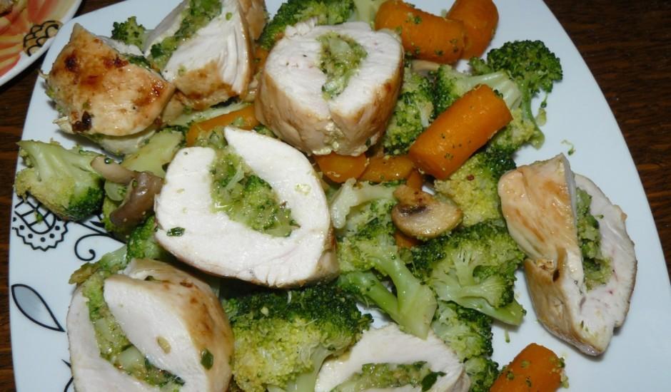 Vistas veltnīši ar brokoļiem