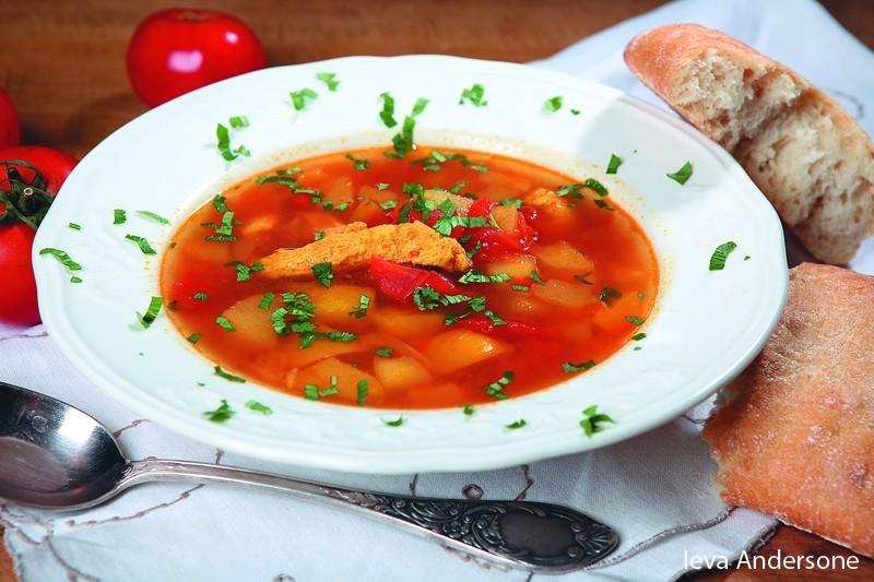 Vistas zupa ar kariju