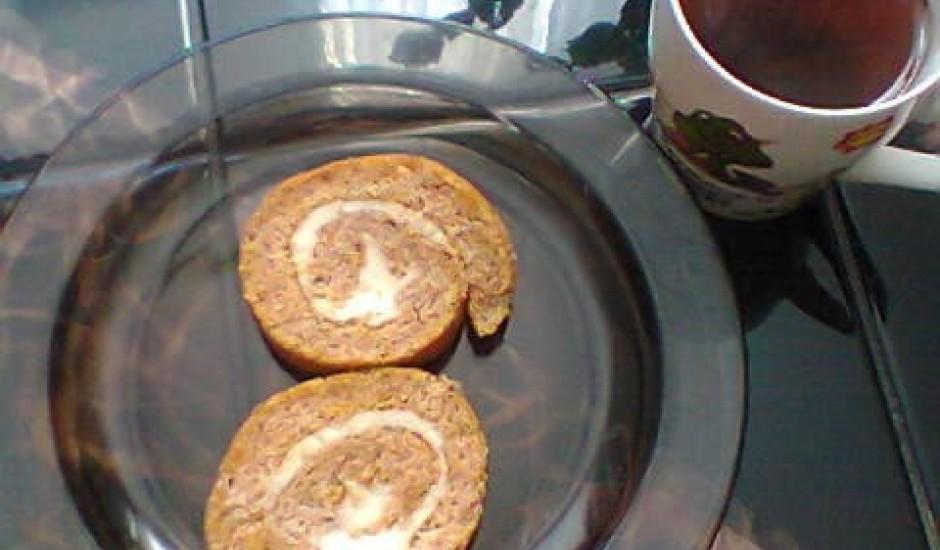 Ķirbja biskvīta rulete ar krējumsieru