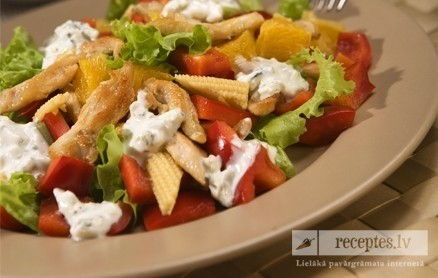 Vistas filejas salāti ar dore blue mērci