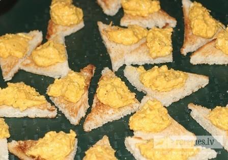 Maizītes ar olu pastu lietuviešu gaumē