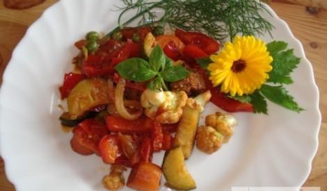 Krāsainais, lētais, veselīgais dārzeņu ragu