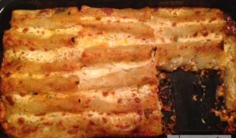 Cannelloni ar spinātiem un malto gaļu