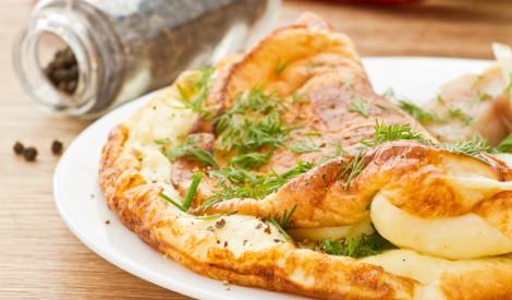 Vienkāršā, ātrā omlete ar dillītēm