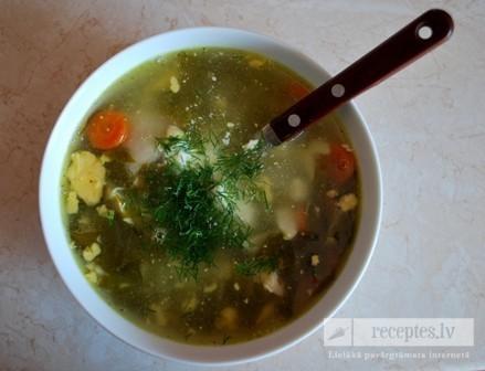 Zupa no svaigām skābenēm