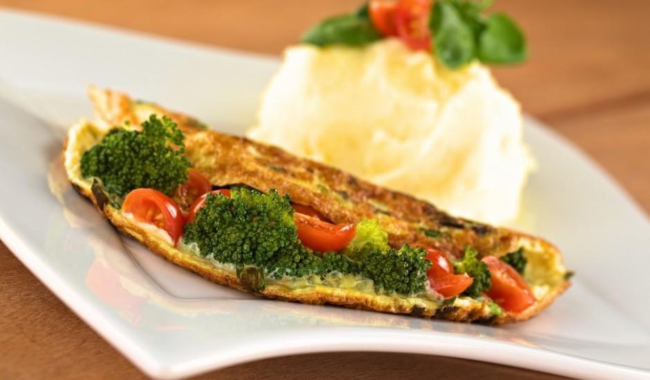 Diētiskā omlete ar dārzeņiem