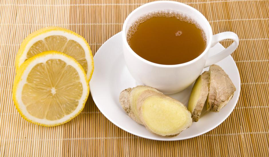 Ingvera tēja ar citronu