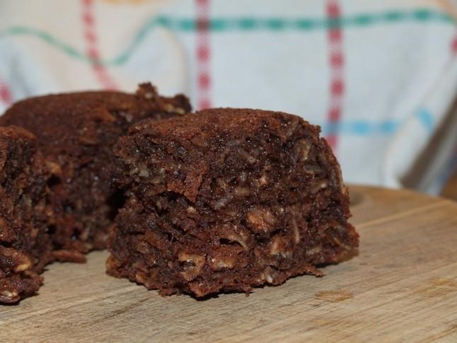 Auzu pārslu,šokolādes kūka bez miltiem