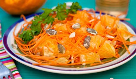 Apelsīnu un burkānu salāti
