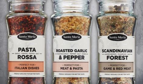 Santa Maria premium kvalitātes garšvielu dzirnaviņas