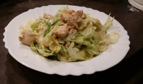 Siltais vistas un ledus salātu mikss