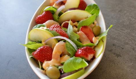 Exotic garneļu salāti