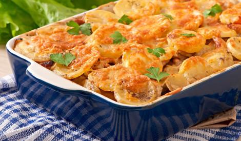 Kartupeļu sacepums ar vistas fileju