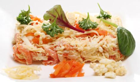 Siera salāti ar burkāniem un olu