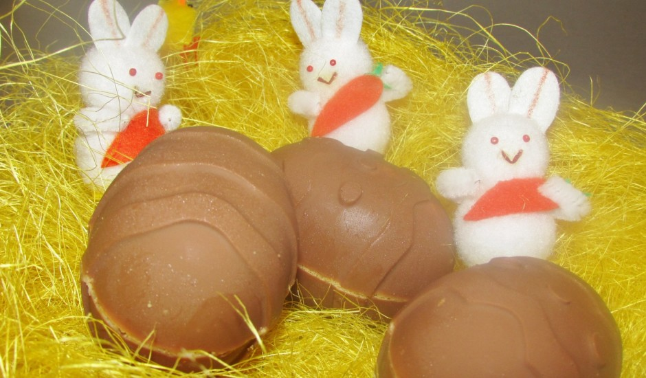 Šokolādes olas ar pildījumu