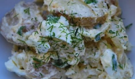 Kartupeļu - mārrutku salāti