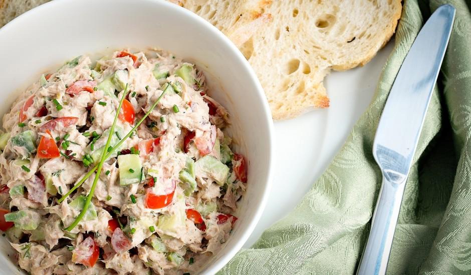 Tunča - avokado salāti
