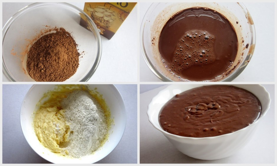 Kad milti iemaisīti, pievieno atdzesētu kakao maisījumu un,...