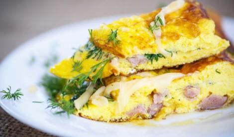 Omlete ar šķiņķi