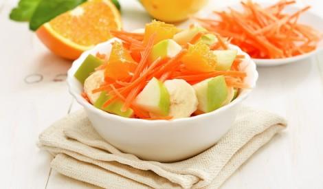 Burkānu un augļu salāti
