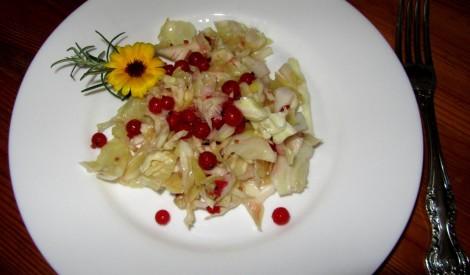Vienkāršie kāpostu salātiņi ar jāņogām